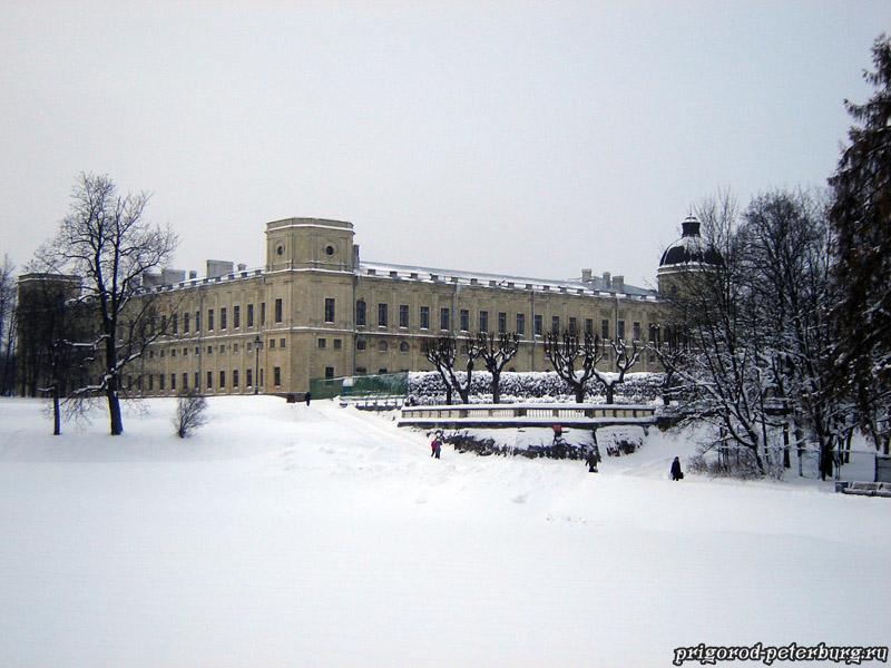 Гатчинский дворец зимой