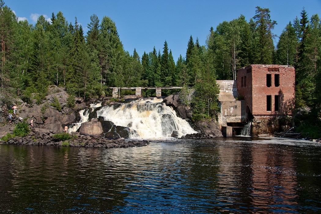 Водопад Рюмякоски раньше