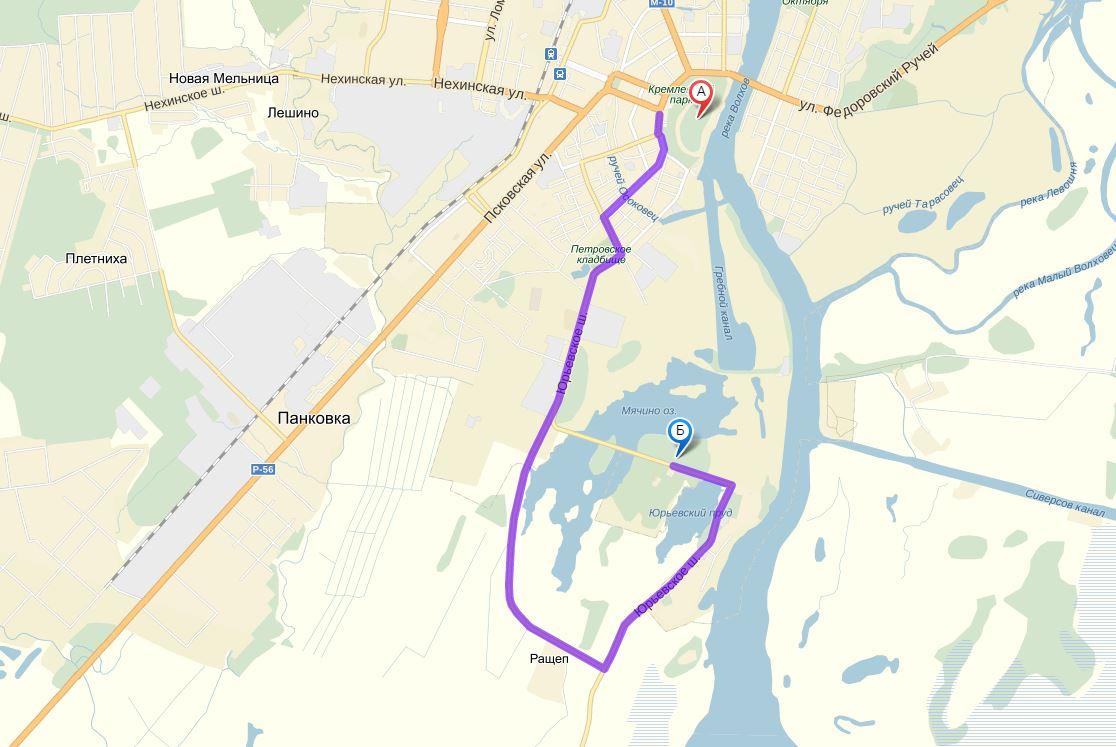 Витославлицы - карта
