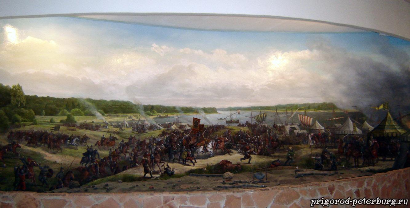 Диорама Невская битва 1240
