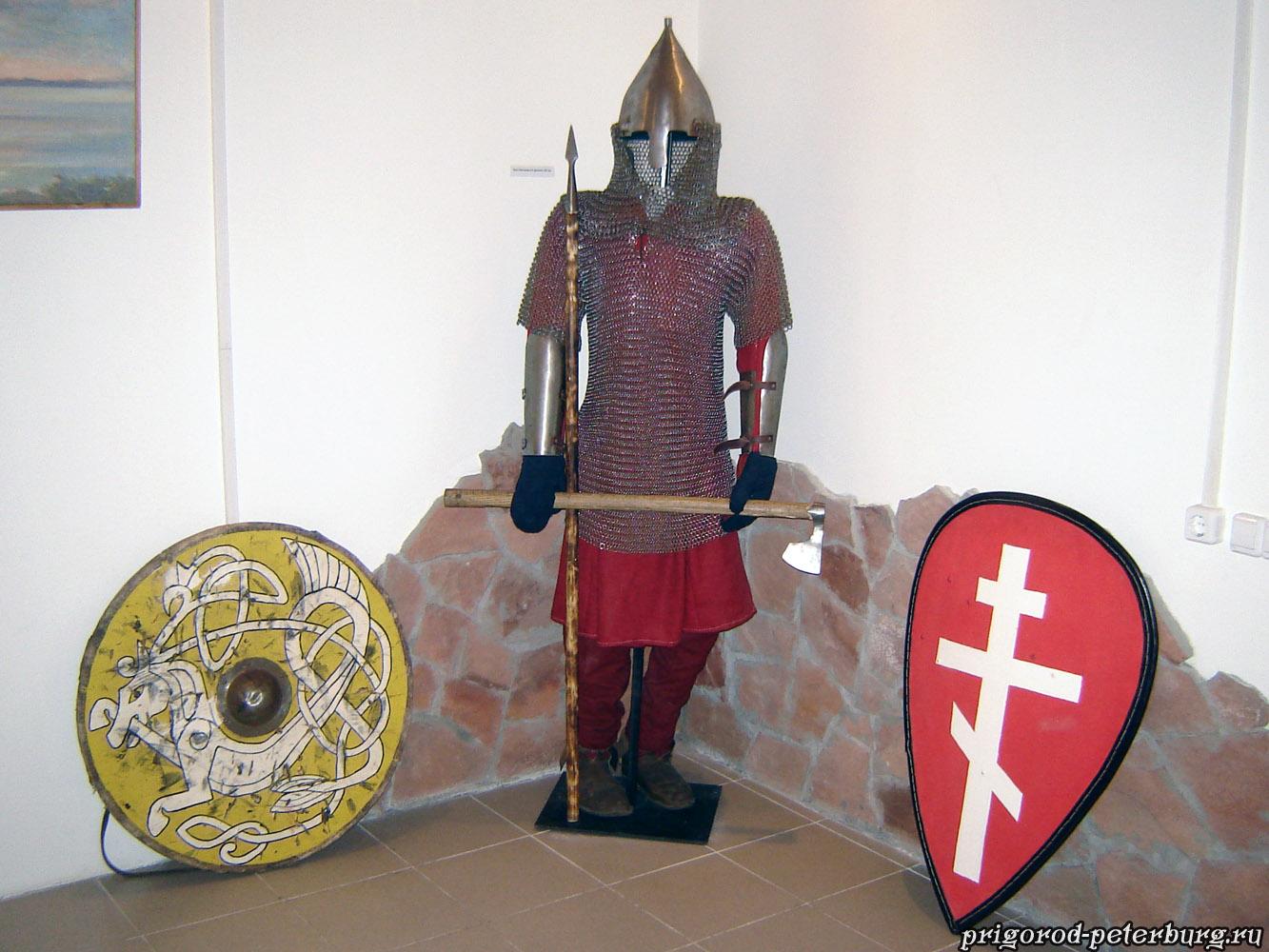 Музей-диорама Невская битва 1240 - новгородский дружинник
